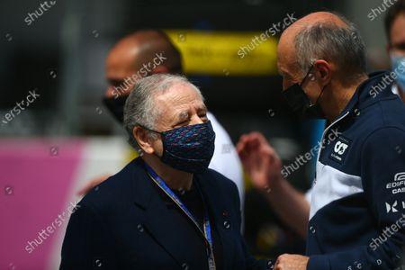 Jean Todt, FIA President and Franz Tost (Alpha Tauri) Formula 1 World championship 2021, Austrian GP 1-4 July 2021