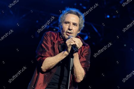Stock Picture of Spanish singer Miguel Rios performs at the Noches del Botanico in Madrid.