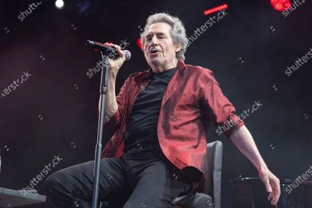 Stock Photo of Spanish singer Miguel Rios performs at the Noches del Botanico in Madrid.