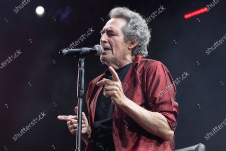 Spanish singer Miguel Rios performs at the Noches del Botanico in Madrid.