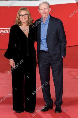Director Ron Howard, right, and Luciano Pavarotti's widow Nicoletta Mantovani