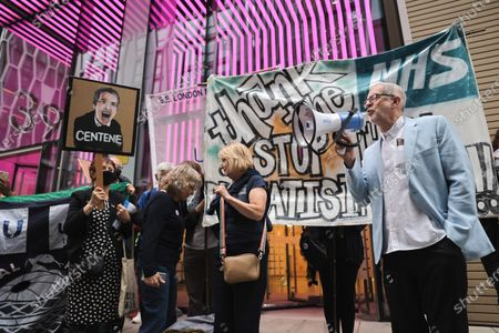 Editorial picture of Stop the privatization of the NHS protest, London, UK - 05 Jul 2021