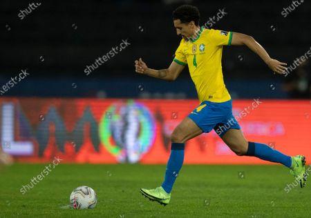 Marquinhos of Brazil; Nilton Santos Stadium, Rio de Janeiro, Brazil; Copa America, Brazil versus Peru.