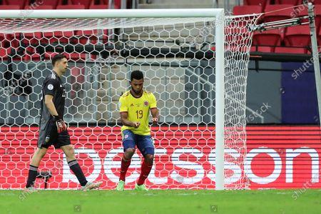 Miguel Borja (Col); Estádio Mané Garrincha, Brasília, DF, Brazil; Copa America Football tournament, Argentina versus Colombia.