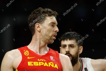 Pau Gasol of Spain looks on during the Tokyo 2020 Challenge preparatory basketball match played between Spain and Iran at Wizink Center on July 05, 2021 in Madrid, Spain.