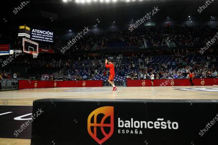 Pau Gasol of Spain saludates to the fans during the Tokyo 2020 Challenge preparatory basketball match played between Spain and Iran at Wizink Center on July 05, 2021 in Madrid, Spain.