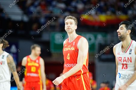 Pau Gasol of Spain seen in action during a Spain vs Iran friendly match of basketball at Wiznink Center in Madrid.