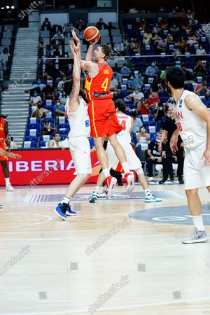 Pau Gasol of Spain seen in action during Spain vs Iran friendly match of basketball at Wiznink Center in Madrid.