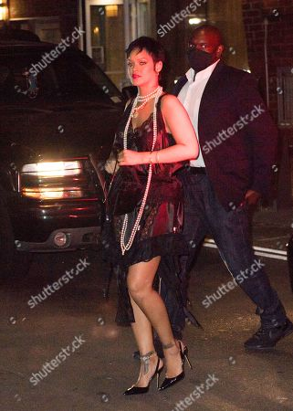 Editorial picture of Rihanna dines at Carbone in see-through and pearls, New York, USA - 06 Jul 2021