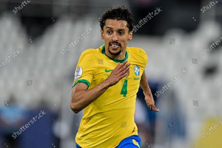 Marquinhos Brazil player during a match against Peru at the Engenhão stadium for the Copa América 2021, this Monday(05).
