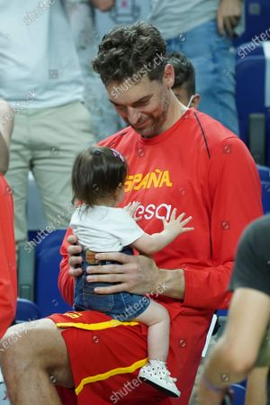 Pau Gasol attend the  fiendrly match between Spain and Iran to preparation to Tokyo 2021 Olympics Games on July 05, 2021 in Madrid, Spain.