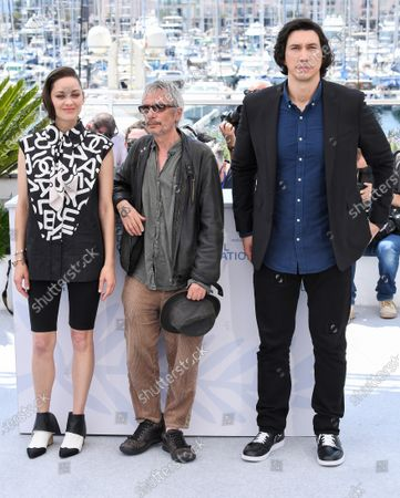 Stock Picture of Marion Cotillard, Leos Carax and Adam Driver
