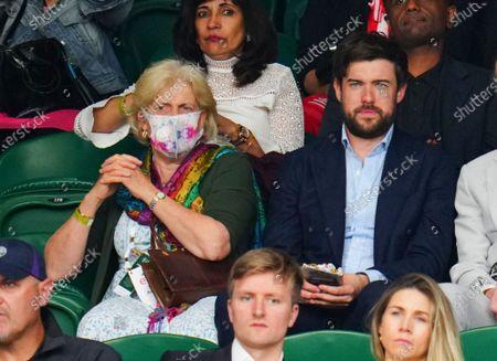 Jack Whitehall looks on alongside his mother Hilary