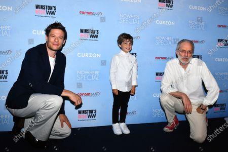 James Norton, Daniel Lamont and director Uberto Pasolini