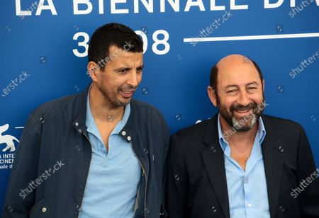 Stock Image of Kad Merad and Samir Guesmi attend 'La Melodie' photocall during the 74th Venice Film Festival