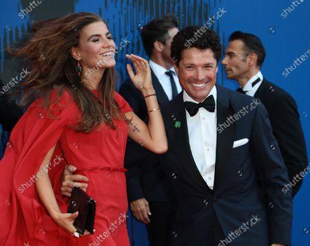 Matteo Marzotto and Nora Shkreli attends the Franca Sozzanzi Award during the 74th Venice Film Festival