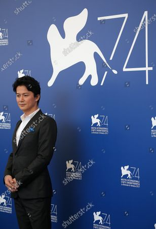 Stock Picture of Masaharu Fukuyama walks the red carpet ahead of the 'The Third Murder (Sandome No Satsujin)' screening during the 74th Venice Film Festival