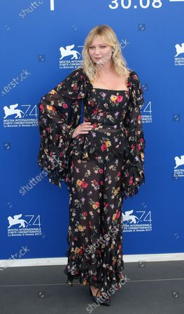 Stock Picture of Kirsten Dunst attend the 'Woodshock' photocall during the 74th Venice Film Festival