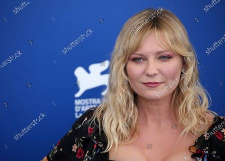Stock Photo of Kirsten Dunst attend the 'Woodshock' photocall during the 74th Venice Film Festival
