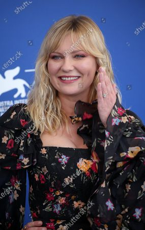 Stock Image of Kirsten Dunst attend the 'Woodshock' photocall during the 74th Venice Film Festival