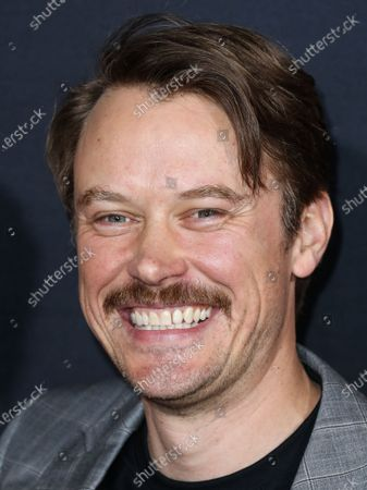 Michael Dorman arrives at the Los Angeles Premiere Of Universal Pictures' 'The Invisible Man' held at the TCL Chinese Theatre IMAX on February 24, 2020 in Hollywood, Los Angeles, California, United States.
