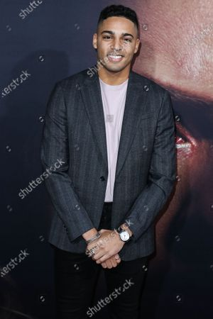 Stock Image of Michael Evans Behling arrives at the Los Angeles Premiere Of Universal Pictures' 'The Invisible Man' held at the TCL Chinese Theatre IMAX on February 24, 2020 in Hollywood, Los Angeles, California, United States.
