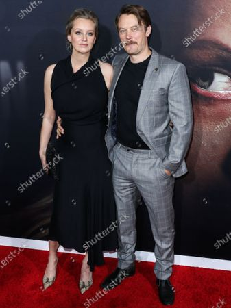 Tessa Richardson Dorman and Michael Dorman arrive at the Los Angeles Premiere Of Universal Pictures' 'The Invisible Man' held at the TCL Chinese Theatre IMAX on February 24, 2020 in Hollywood, Los Angeles, California, United States.