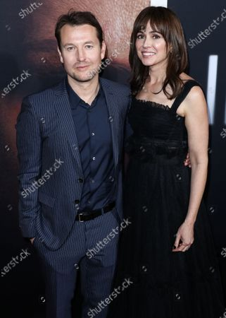 Leigh Whannell and Corbett Tuck arrive at the Los Angeles Premiere Of Universal Pictures' 'The Invisible Man' held at the TCL Chinese Theatre IMAX on February 24, 2020 in Hollywood, Los Angeles, California, United States.