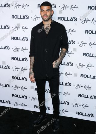 Miles Brockman Richie arrives at Rolla's x Sofia Richie Collection Launch Event held at Harriet's Rooftop at 1 Hotel West Hollywood on February 20, 2020 in West Hollywood, Los Angeles, California, United States.