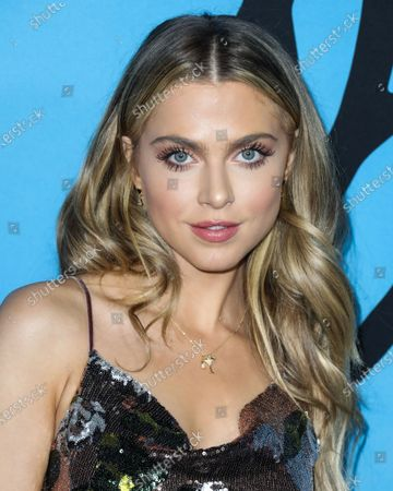 Actress Anne Winters arrives at the Los Angeles Special Screening Of Netflix's 'All The Bright Places' held at ArcLight Hollywood on February 24, 2020 in Hollywood, Los Angeles, California, United States.