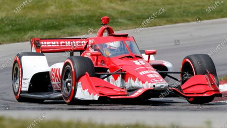 Stock Photo of Marcus Ericsson competes during an IndyCar race at Mid-Ohio Sports Car Course in Lexington, Ohio