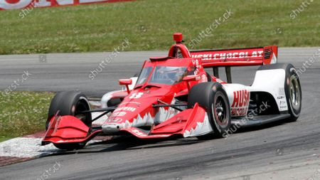 Stock Image of Marcus Ericsson competes during an IndyCar race at Mid-Ohio Sports Car Course in Lexington, Ohio