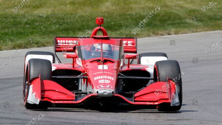 Stock Picture of Marcus Ericsson competes during an IndyCar race at Mid-Ohio Sports Car Course in Lexington, Ohio
