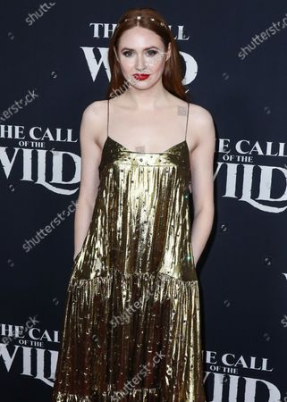 Actress Karen Gillan arrives at the World Premiere Of 20th Century Studios' 'The Call Of The Wild' held at the El Capitan Theatre on February 13, 2020 in Hollywood, Los Angeles, California, United States.