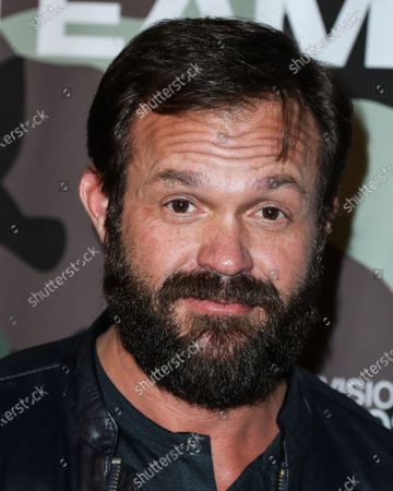 Stock Photo of Judd Lormand arrives at the Los Angeles Premiere Of CBS Television Studios' 'SEAL Team' held at ArcLight Cinemas Hollywood on February 25, 2020 in Hollywood, Los Angeles, California, United States.