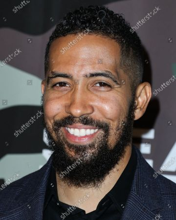 Stock Image of Neil Brown Jr. arrives at the Los Angeles Premiere Of CBS Television Studios' 'SEAL Team' held at ArcLight Cinemas Hollywood on February 25, 2020 in Hollywood, Los Angeles, California, United States.
