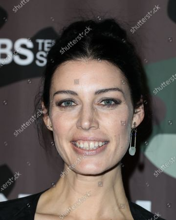Actress Jessica Pare arrives at the Los Angeles Premiere Of CBS Television Studios' 'SEAL Team' held at ArcLight Cinemas Hollywood on February 25, 2020 in Hollywood, Los Angeles, California, United States.