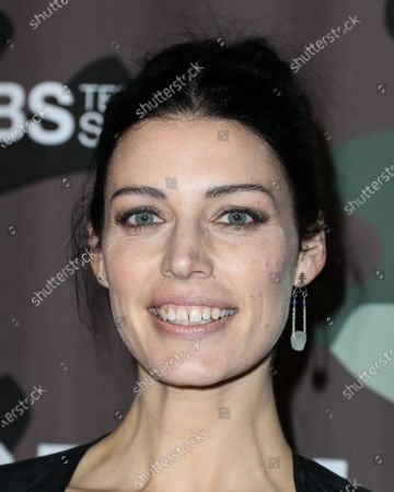 Stock Image of Actress Jessica Pare arrives at the Los Angeles Premiere Of CBS Television Studios' 'SEAL Team' held at ArcLight Cinemas Hollywood on February 25, 2020 in Hollywood, Los Angeles, California, United States.
