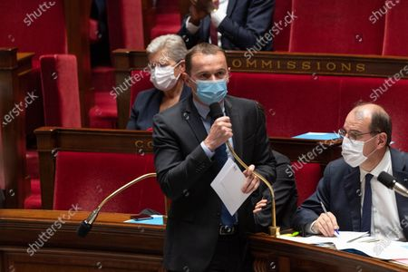 French Junior Minister for Public Administration Olivier Dussopt during the weekly session of questions to the government at the French National Assembly.