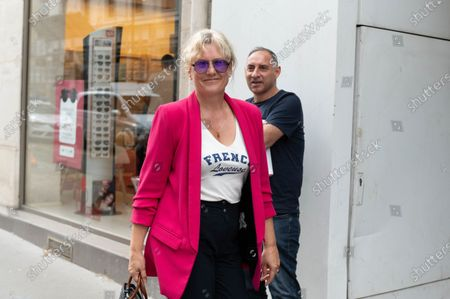 Nadine Morano arrives to await a meeting of the Republicans political bureau. Meeting of the Political Bureau of Les Republicains (LR).
