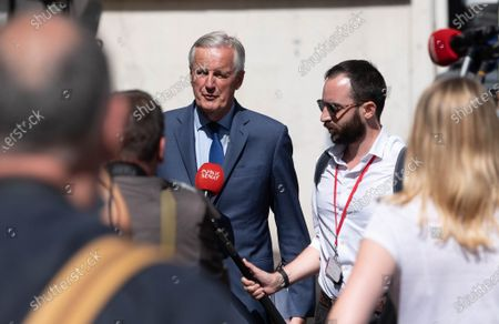 Michel Barnier arrives to await a meeting of the Republicans political bureau. Meeting of the Political Bureau of Les Republicains (LR).