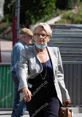 Stock Picture of Michele Alliot-Marie arrives to attend a meeting of the Republicans political bureau. Meeting of the Political Bureau of Les Republicains (LR).