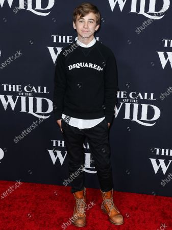 Parker Bates arrives at the World Premiere Of 20th Century Studios' 'The Call Of The Wild' held at the El Capitan Theatre on February 13, 2020 in Hollywood, Los Angeles, California, United States.