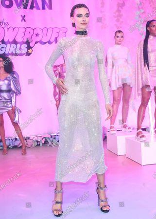 Mariah Strongin walks the runway at the 2020 Christian Cowan x Powerpuff Girls Runway Show Season II held at NeueHouse Los Angeles on March 8, 2020 in Hollywood, Los Angeles, California, United States.