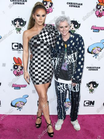 Gigi Gorgeous and Nats Getty arrive at the 2020 Christian Cowan x Powerpuff Girls Runway Show Season II held at NeueHouse Los Angeles on March 8, 2020 in Hollywood, Los Angeles, California, United States.
