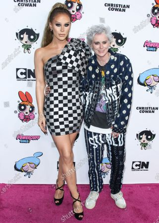 Stock Photo of Gigi Gorgeous and Nats Getty arrive at the 2020 Christian Cowan x Powerpuff Girls Runway Show Season II held at NeueHouse Los Angeles on March 8, 2020 in Hollywood, Los Angeles, California, United States.
