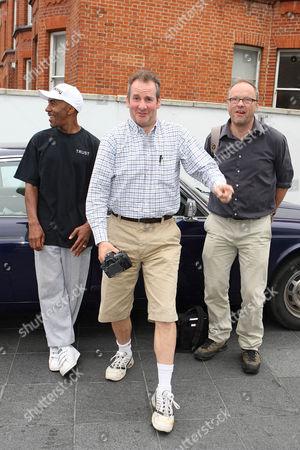 Stock Photo of Danny John-Jules (The Cat),Chris Barrie (Rimmer) and Robert Llewellyn (Kryten).