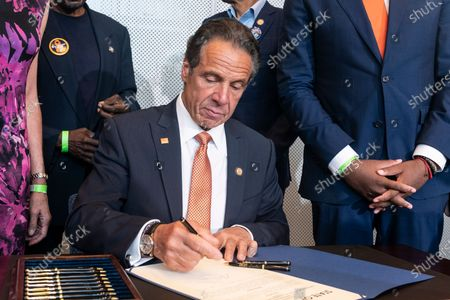 Editorial picture of NY: Governor Cuomo makes an announcement regarding gun violence, New York, United States - 06 Jul 2021
