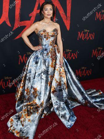 Ming-Na Wen wearing Mark Zunino