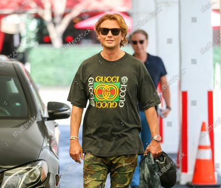 Jonathan Cheban is seen in a Gucci shirt while out in LA